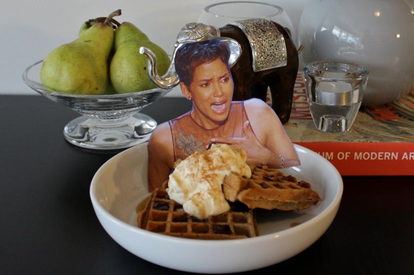 Halle BlueBerry Waffles 1