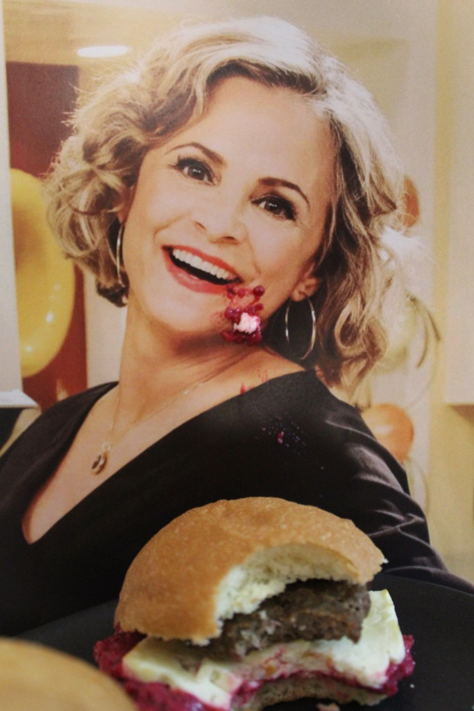 Amy Sedaris smashing a delightful Lamby Slidaris