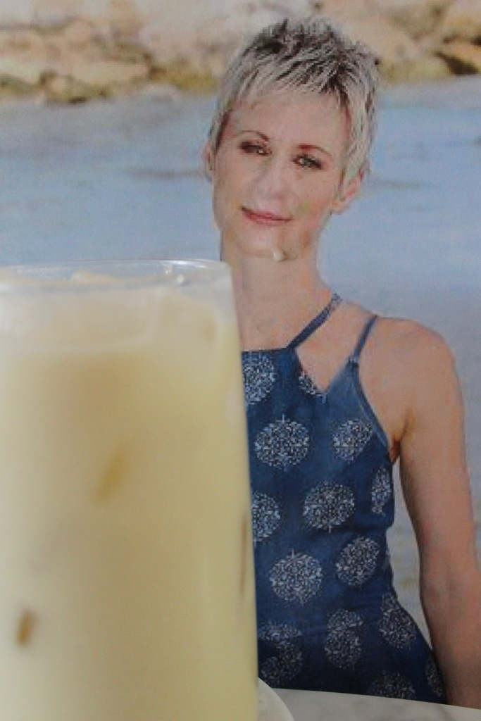Anastasia Woolmer enjoying a Piñastasia Colamer after becoming the first boot
