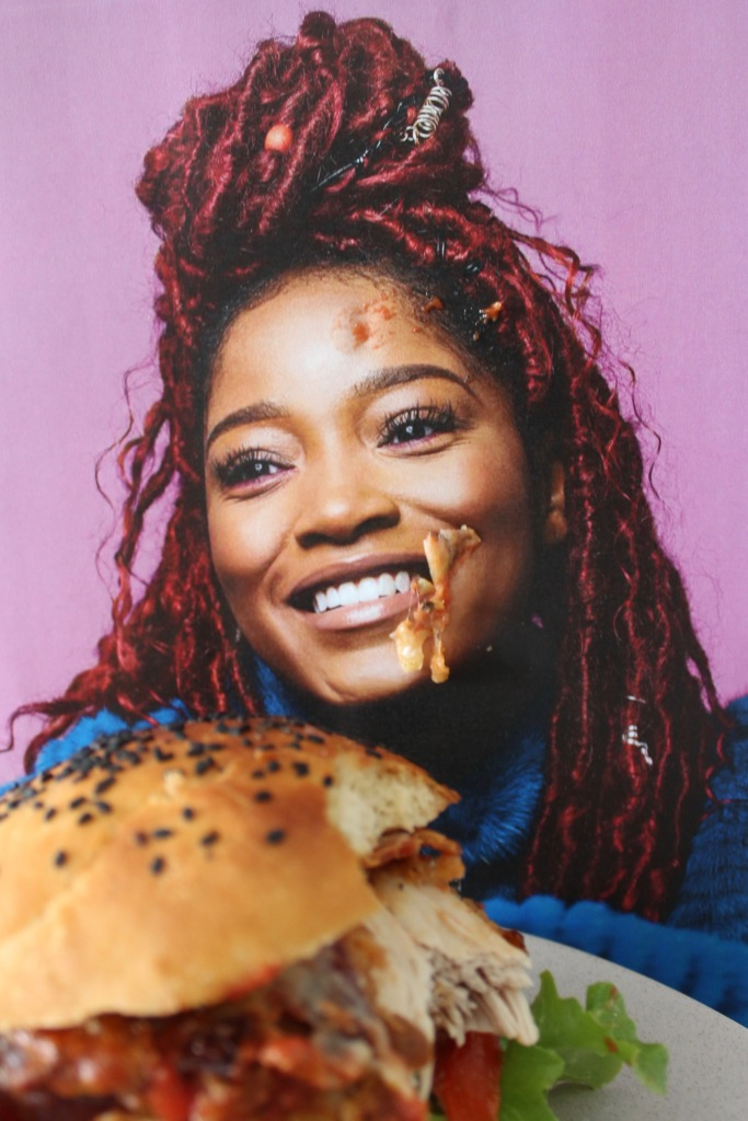 Keke Palmer overjoyed about smashing a Chickeke Parma Burger