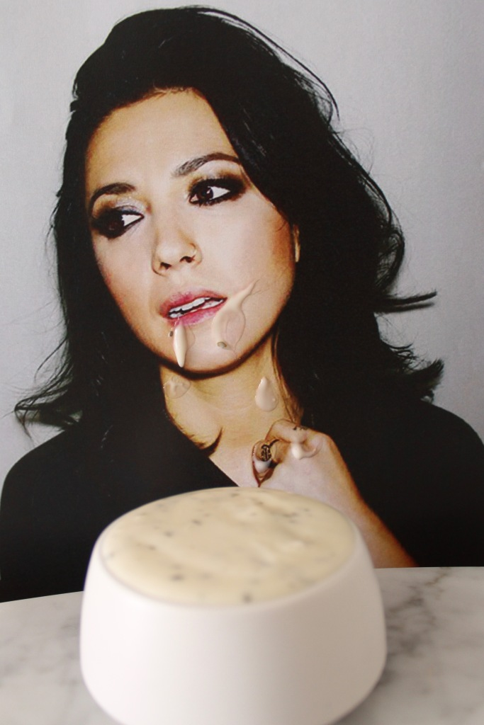 Michelle Branch mid chug of her Michelle Branch Dressing