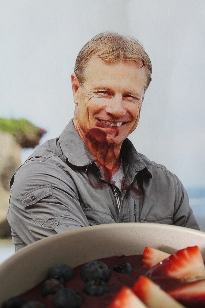 Andrew Ettinghausen demolishing his Australian Survivor sixth boot Andrew Ettinghacai Bowl