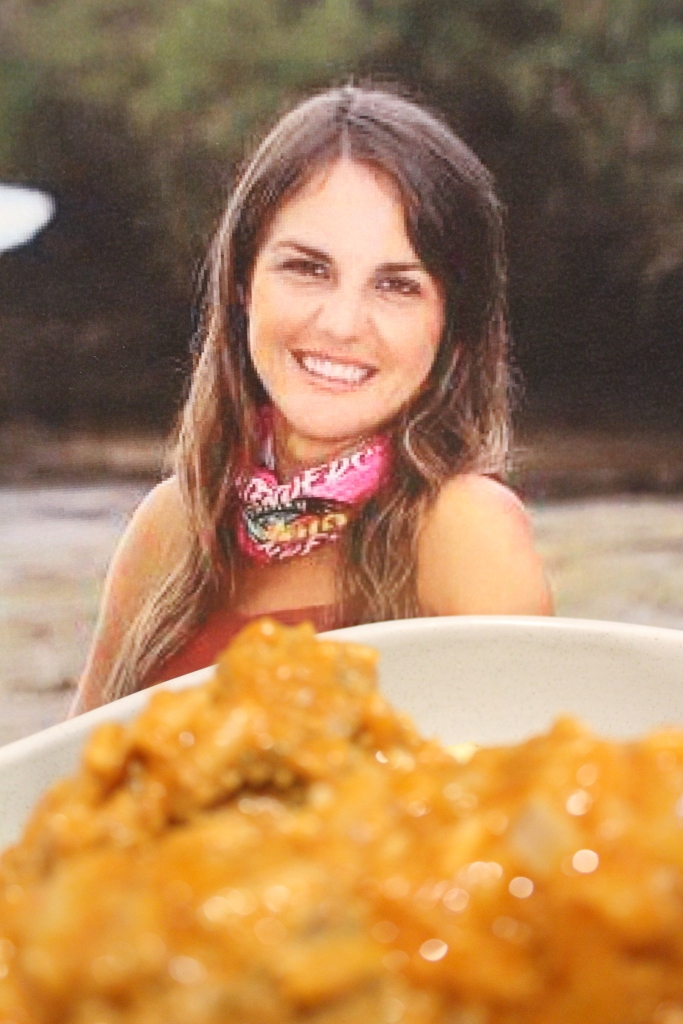 Casey Hawkins ready to claim her only Australian Survivor prize, in the form of my Casey Hawkupine Meatballs